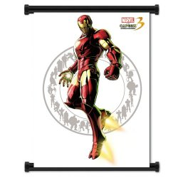 Marvel Vs Capcom 3 Iron Man Game Fabric Wall Scroll Poster (32X42) Inches