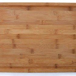 "Culina Bamboo 1"" Cutting Board, Carved Drain, Large 17.5"" X 12.5"""