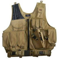 Coyote Tan Paintball / Hunting / Airsoft Deluxe Tactical Vest