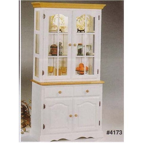 Image of Buffet & Hutch in Natural & White with Lights (VF_AZ02-16664)
