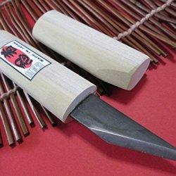 Higoryu Ninjya/Right Hand/Japanese Kiridashi Craft Pocket Knife/Wooden Handle/Made In Japan