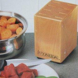Oneida Steak Knife Block - Solid Wood - Holds 8 Knives