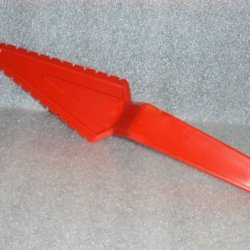 Vintage Tupperware Pastry Server Pie Wedge Cutter Poppy Red