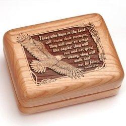 """3X4"""" Box With Money Clip/Pocket Knife - Isaiah 40:31"""