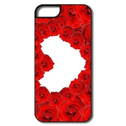 Hot Red Roses Love Heart Pc Cover For Iphone 5/5S