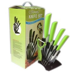 """3""""4""""5""""6"""" Handle Paring Fruit Utility Chef Knife Kitchen Green Color Ceramic Knives Set 6Pcs A Set New Style 2013 Holiday Sale By Coolahiny"""