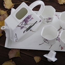 Granvela Tea Sets Tea Cups Pure Bone China Chinese Image Designed Artworks A Pot Of 4 Cups And A Saucer