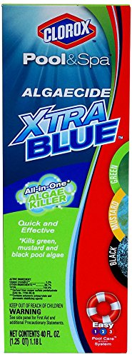 Clorox Pool&Spa 43040CLX Algaecide Xtra Blue, 40-Ounce