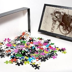 Photo Jigsaw Puzzle Of A London Knife Grinder On The Street