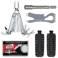 Leatherman Wave Multi-Tool With Croc & Bit Extender With 42 Bit Kit + Cleaning Cloth