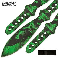 Tk-40-11-Sgr 12 Gpv98F Inch Huge 3 Pcs Throwing Pnezldl6 Knife Kit Folding Knife Edge Sharp Steel Ytkbio Tikos567 Bgf Knives Measure G3Q7Z9Hql2 Out To 12 Inches. Super Thick Knives. Double Edged Blade. Green Living Dead Zm8Tl Night Skull Drawing On Entire
