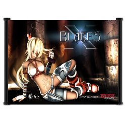 "X-Blades Game Fabric Wall Scroll Poster (42"" X 32"") Inches"