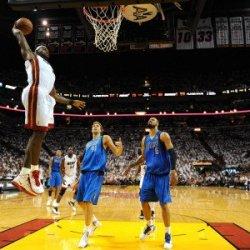 Dallas Mavericks V Miami Heat - Game Two, Miami, Fl - June 02: Lebron James, Dirk Nowitzki And Tyso Photographic Poster Print, 18X24