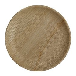 Table To Go 200-Piece Palm Leaf Round Dinner Plates, 10-Inch