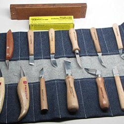 16Pc Wood Carving Chip Knives Flexcut Hock Wood Is Good Strop Compound Ramelson