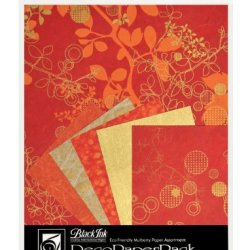 Black Ink Decorative Paper Pack, 8.5 By 11-Inch, Chinaberry Red