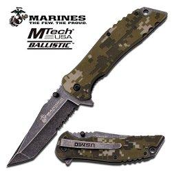 U.S. Marine Corps Pocket Folding Knife W/ Stone Washed Blade