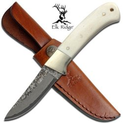 Elk Ridge Real Damascus Steel Hunting Knife Er286D