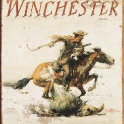 Tin Sign Winchester Logo.