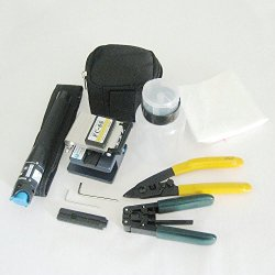 Fiber Optic Ftth Tool Kit Fc-6S Fiber Cleaver Kit 1Mw Visual Fault Locator Stripper Bottle Plier