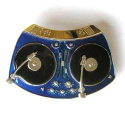 Hogar Mens Zinic Alloy Music Belt Buckle Dj Player Buckles Color Blue