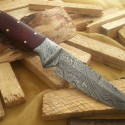 """Massive Sale!!!!!"" Custom Damascus Handmade Hunting Knife. With Leather Sheath. Top Quality."
