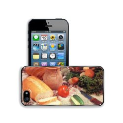 Cucumber Bread Tomato Baked Goods Herbs Knife Apple Iphone 5 / 5S Snap Cover Premium Leather Design Back Plate Case Customized Made To Order Support Ready 5 Inch (126Mm) X 2 3/8 Inch (61Mm) X 3/8 Inch (10Mm) Liil Iphone_5 5S Professional Case Touch Access