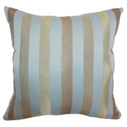 The Pillow Collection Olivia Stripes Pillow, Tiffany Gold