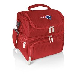 Nfl New England Patriots Pranzo Insulated Lunch Tote, Red, 12 X 11 X 8-Inch