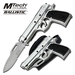 Mt-A818Sb M9 Ii5S71Eg6X Assisted Opening Knife With Gun Muticj Holster 4.75 Inch Closed Ajuiioptr 4567Fffg 567Ybghjk Mtech Usa Ballistic 9Cpcd7 M9 Series Assisted Opening Knifeassisted Opening Knife4.75 Inch Closed In Length3.5 Inch Silver Half Serrated S