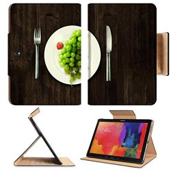 Green Grapes Fork Knife Dish Samsung Note Pro 12.2 Flip Case Stand Smart Magnetic Cover Open Ports Customized Made To Order Support Ready Premium Deluxe Pu Leather Luxlady Professional Graphic Background Covers Designed Model Folio Sleeve Hd Template Desi