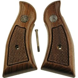 Smith & Wesson K Frame Square Butt Grips, Kpc Checkered Walnut