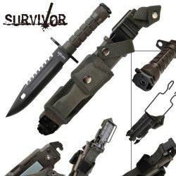 Survivor Survival Knife / Bayonet Hk56142B - Tactical / Survival Knives