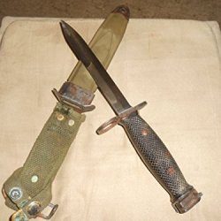 Conetta M7 Bayonet Knife/Us M8A1 Scabbard, Vietnam Era