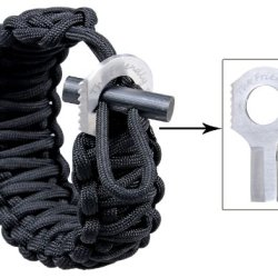 The Friendly Swede Adjustable Premium Paracord Bracelet With Fire Starter And Sharp Eye Knife.