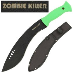 Zombie Killer Kukri Knife Sword Machete- Neon Green