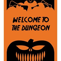 "Reflective Aluminum Halloween Sign ""Welcome To The Dungeon"" 10"" X 14"" (Hw-0037-Ra)"