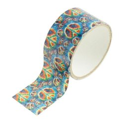 Fun Colored Peace Sign Print Duct Tape - 10 Yds - Add A Little Color - Great For Arts And Crafts