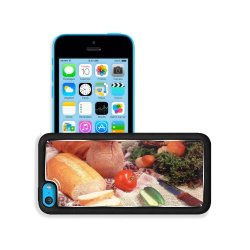 Cucumber Bread Tomato Baked Goods Herbs Knife Apple Iphone 5C Snap Cover Premium Aluminium Design Back Plate Case Customized Made To Order Support Ready 5 Inch (126Mm) X 2 3/8 Inch (61Mm) X 3/8 Inch (10Mm) Liil Iphone_5C Professional Metal Case Touch Acce