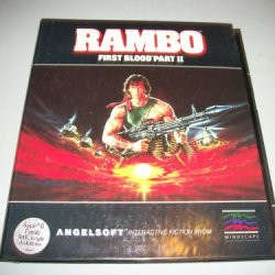 """Rambo First Blood Part Ii 5.25"""" Floppy Disk Game"""