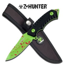 "Z-Hunter 7.5"" Zombie Green Fixed Blade Knife"