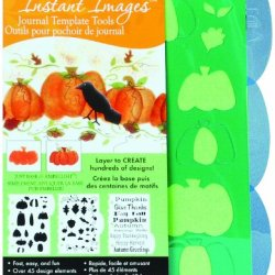 Decoart Iij06-K Laurie Speltz'S Journal Template, 5-Inches-By-7-Inches, Pumpkins And Vines