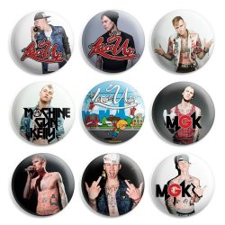 Machine Gun Kelly Pinback Buttons Pin Badges 1 Inch (25Mm) - Pack Of 9