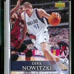 2007-08 Upper Deck First Edition # 171 Dirk Nowitzki - Nba Basketball Trading Card In A Protective Display Case