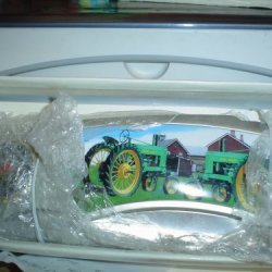Collectible John Deere 2 Tractor Jumbo Folding Knife With Display Stand