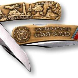 Coast Guard Lockback Knife - Small Bronze Antique
