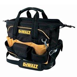 """Dewalt 18"""" 29-Pocket Exterior Closed Top Molded Base Pop-Open Fabric Tool Bag"""