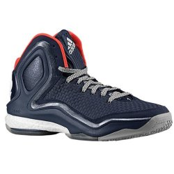 Men'S Adidas D Rose 5 Boost Basketball Shoes Collegiate Navy/White/Bold Orange C76547 (10)