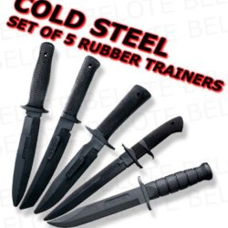 Cold Steel Rubber Training Practice Knife Knives 5 Set 10D 13R 14R 14B 39L