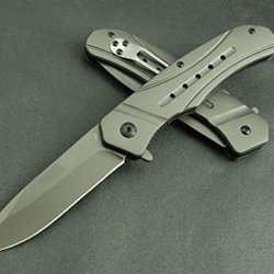 Black Hunting Outdoor Camping Survival Rescue Folding Pocket Knife Blnfda62-8.54''